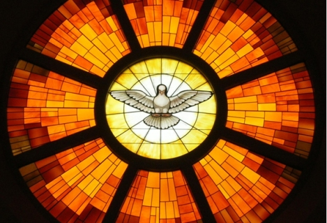 Image result for holy spirit stained glass