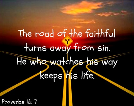 Road for Proverbs 16 v 17 forkintheroad
